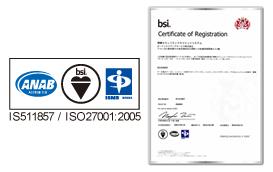 万全の秘密保持体制。ISO27001認証取得。