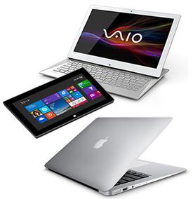 タブレット端末やノートパソコンは SSD搭載のものが多い