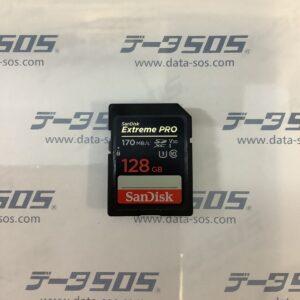 SanDisk SDカード ビデオカメラのRECを終了しないまま抜いてしまった