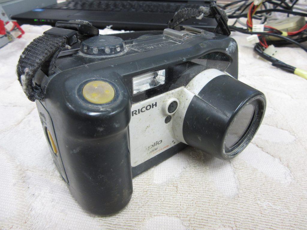 RICOH Caplio 500G wide 内蔵メモリー 工事現場写真を消してしまった