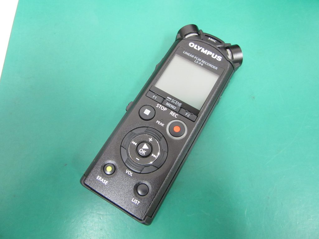 OLYMPUS ボイスレコーダー LS-P4 録音データの整理中に重要なデータを消してしまった。復旧ソフトでも復旧できなかった
