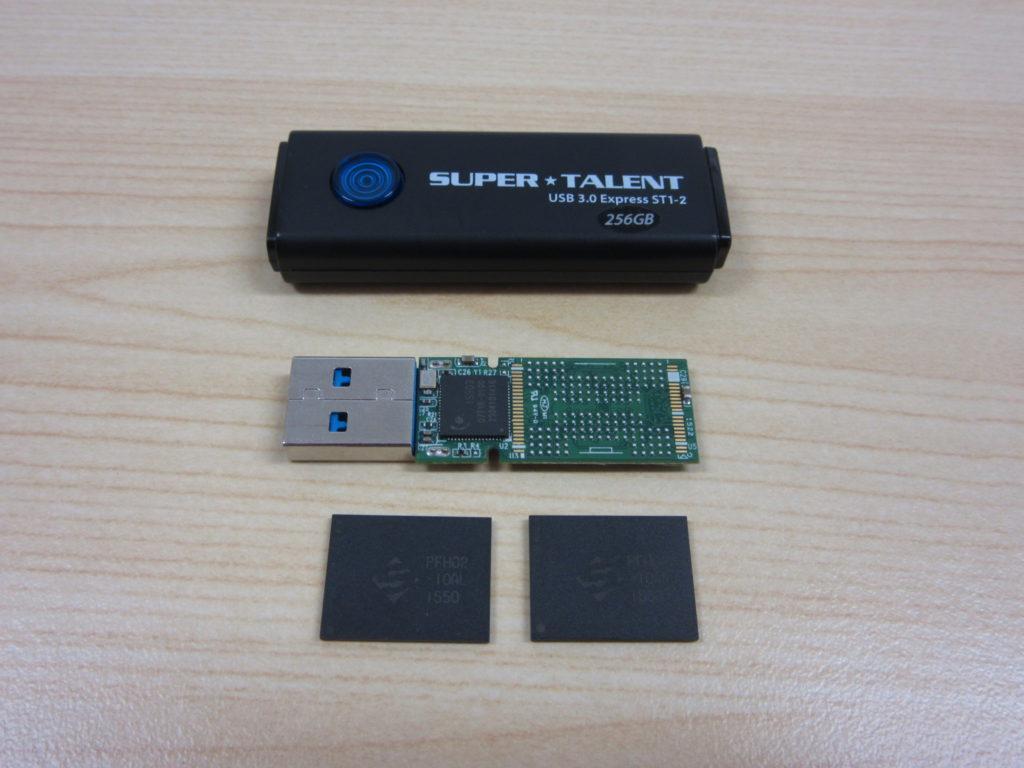 まったく読み込まないUSBメモリからデータを復旧 SUPER TALENT USB3.0Express ST1-2 256GB