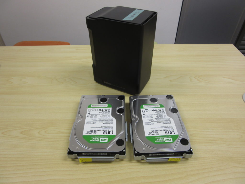 I-O DATA HDL2-A2.0のデータ復旧(ネットワークから認識できなくなった)