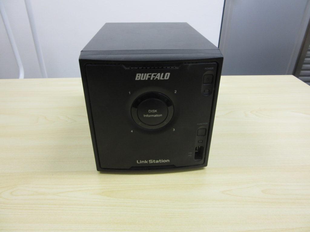 LS-Q1.0TL/1D HDD1台がエラーになり認識不能に