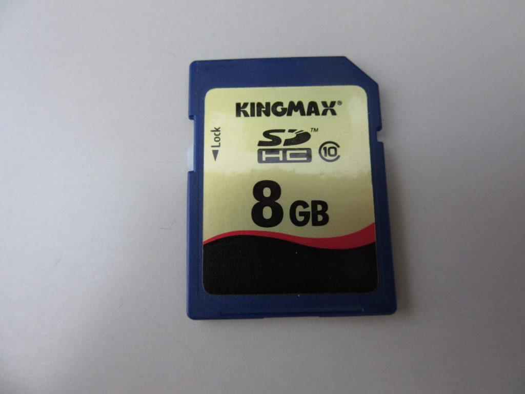 KINGMAX 8GB SDカードを誤ってフォーマット