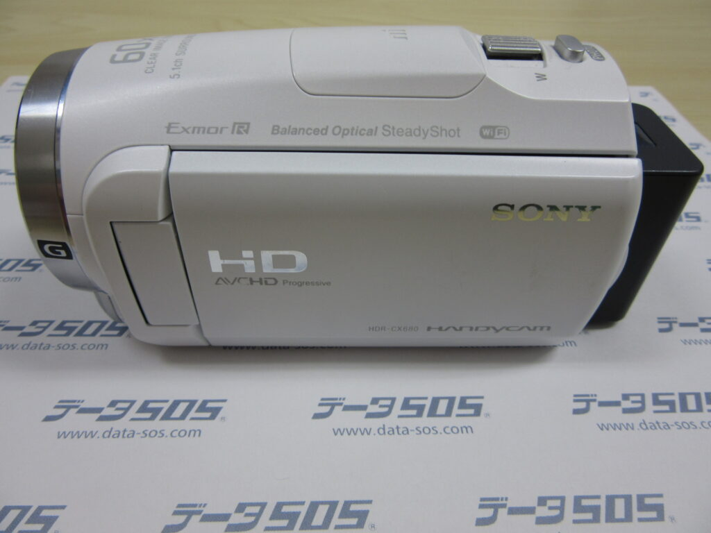 SONY HANDYCAM HDR-CX680 お子様が誤って動画を消してしまった