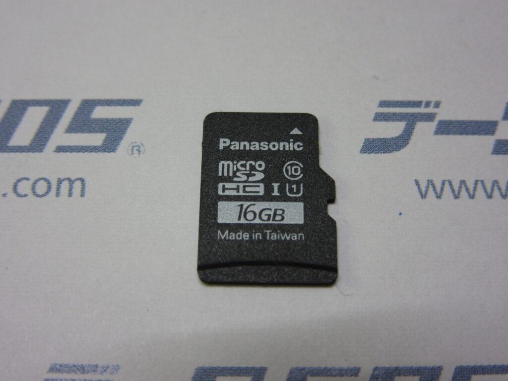 Panasonic 16GB MicroSDカードがスマホで認識しなくなった。