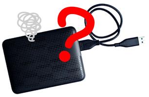 USB外付けハードディスクの写真